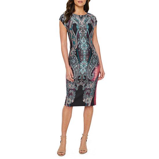 Weslee Rose Short Sleeve Sheath Dress