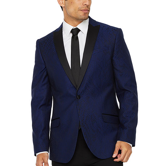 JF J.Ferrar Evening Edition Snakeskin Mens Sport Coat - Slim