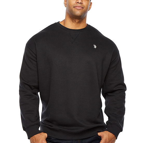 U.S. Polo Assn. Big and Tall Mens Crew Neck Long Sleeve Sweatshirt