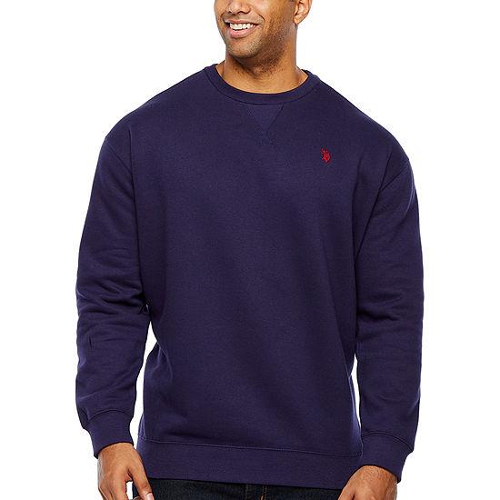 U.S. Polo Assn. Big and Tall Mens Crew Neck Long Sleeve Sweatshirt