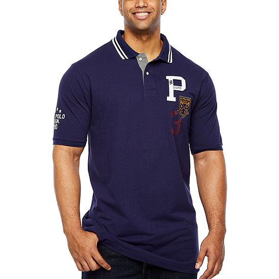 U.S. Polo Assn. Mens Collar Neck Short Sleeve Polo Shirt Big and Tall