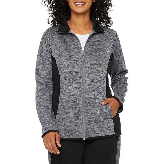 St. John's Bay Active Knit Lightweight Track Jacket-Petite