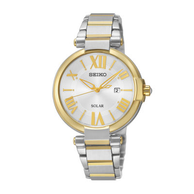 Seiko® Recraft Womens Two-Tone Solar Dress Watch SUT174