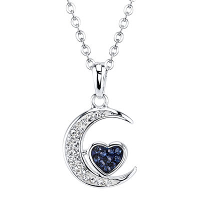 Crystal Sophistication™ Crystal-Accent Moon Pendant Necklace