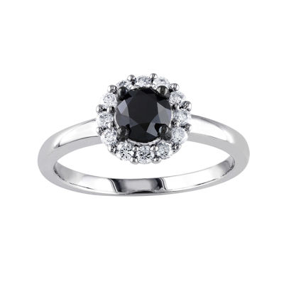 Midnight Black Diamond 1 CT. T.W. White & Color-Enhanced Black Diamond 10K White Gold Engagement Ring