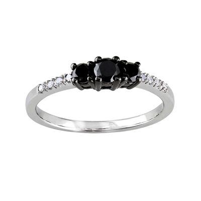 Midnight Black Diamond 1/2 CT. T.W. Color-Enhanced Black Diamond 10K White Gold Engagement Ring