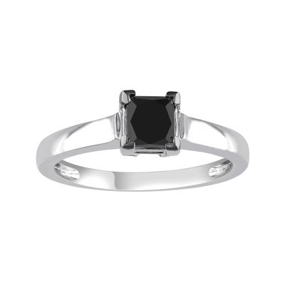 Midnight Black Diamond 1 CT. Color-Enhanced Black Diamond 10K White Gold Engagement Ring