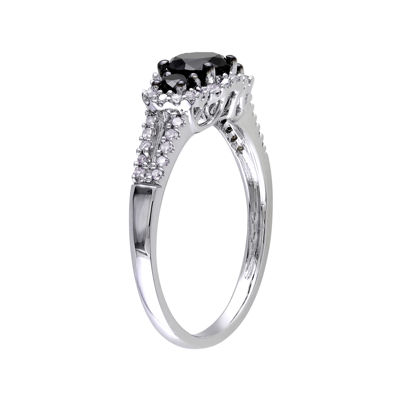 Midnight Black Diamond 1 CT. T.W. White & Color-Enhanced Black Diamond 10K White Gold Engagement Ring