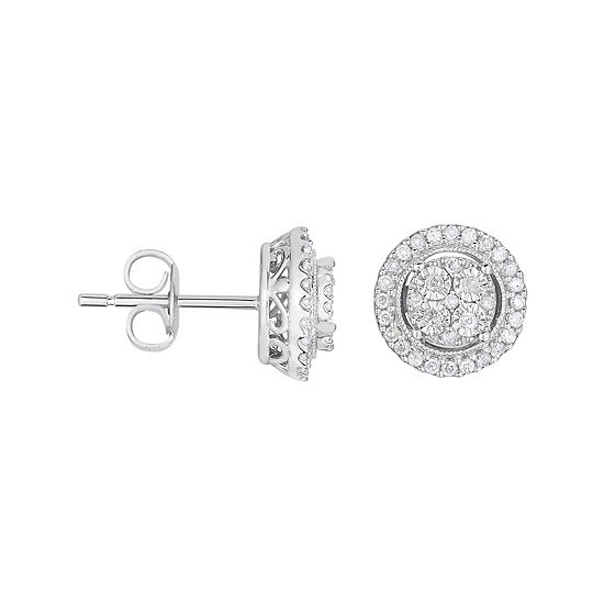 TruMiracle® 1/4 CT. T.W. Genuine Diamond Round Sterling Silver Earrings