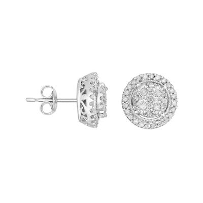 TruMiracle® 1/2 CT. T.W. Diamond Round Sterling Silver Earrings