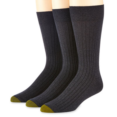 Gold Toe® 3-pk.  Dress Canterbury Crew Socks
