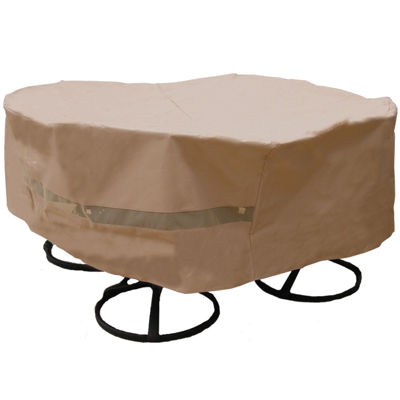 SURE FIT® Round Table and Chair Set Cover