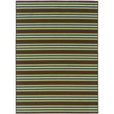 Covington Home Bars Striped Indoor/Outdoor Rectangular Rug