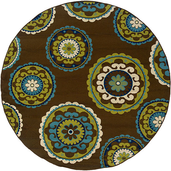 Covington Home Suzani Floral Indoor/Outdoor RoundRug