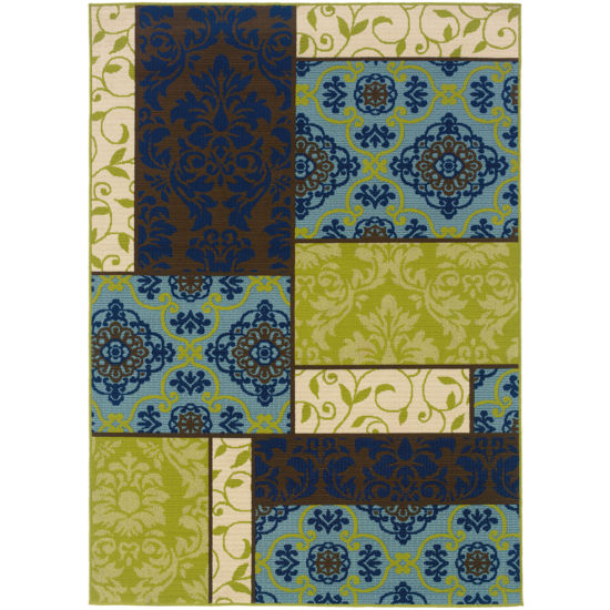 Covington Home Boxes Indoor/Outdoor Rectangular Rug