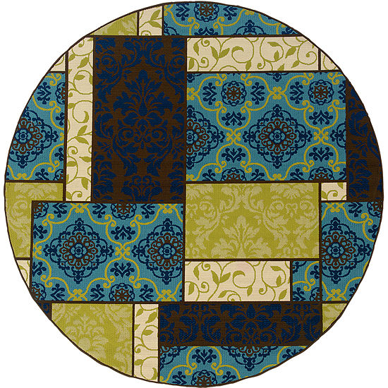 Covington Home Boxes Indoor/Outdoor Round Rug
