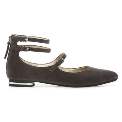 a.n.a Womens Uma Ballet Flats Zip Closed Toe