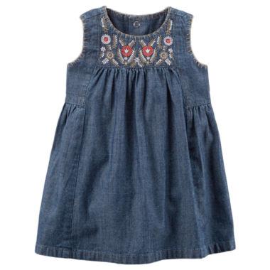 Carter s Sleeveless A Line Dress Baby Girls JCPenney