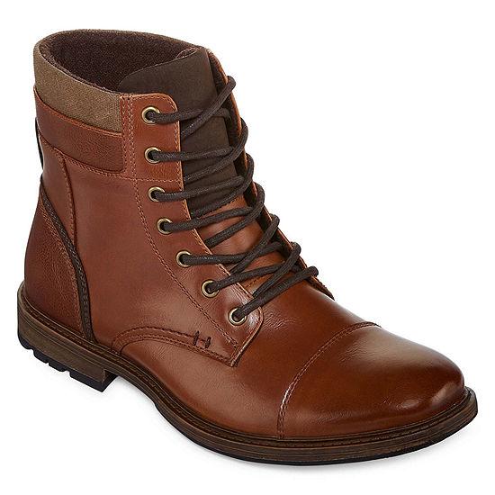 JF J.Ferrar Mens Davidson Lace Up Boots