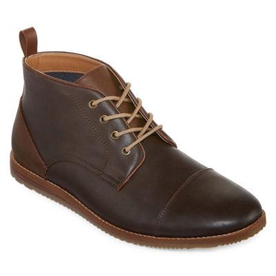JF J.Ferrar Coffey Mens Chukka Boots