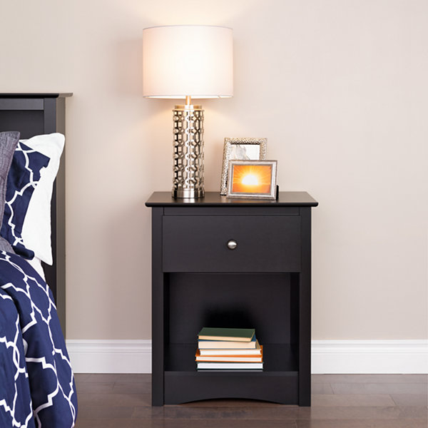 Prepac Sonoma 1-drawer Tall Nightstand