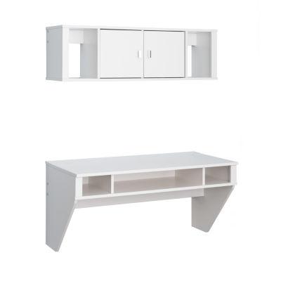 Prepac Floating Desk And Hutch