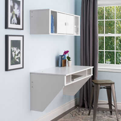 Prepac Floating Desk and Hutch