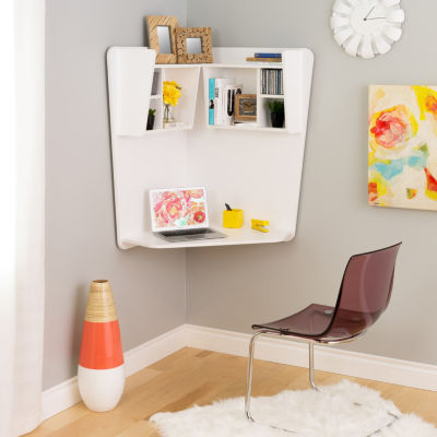 Prepac Corner Floating Desk