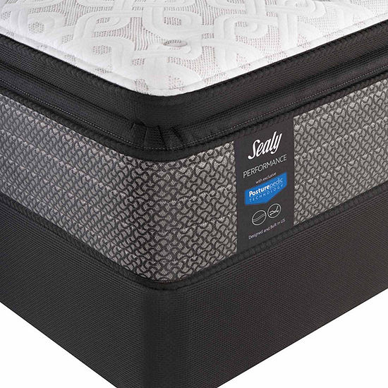 Sealy® Besant Cushion Firm Pillowtop - Mattress + Box Spring