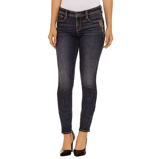 Bold Elements Embellished Skinny Jeans