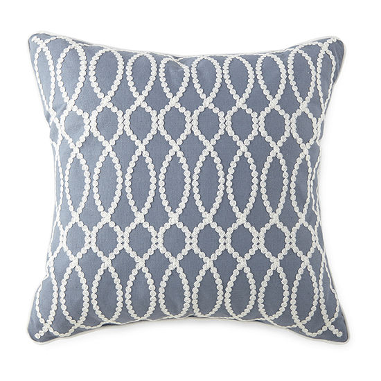 JCPenney Home Embroidery Square Throw Pillow