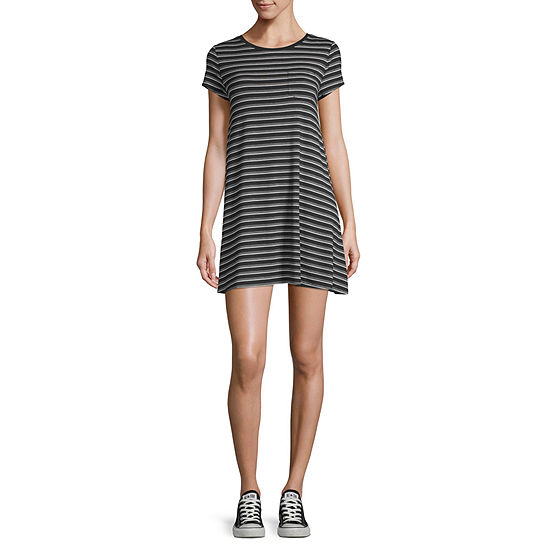 Arizona Short Sleeve Striped T-Shirt Dresses