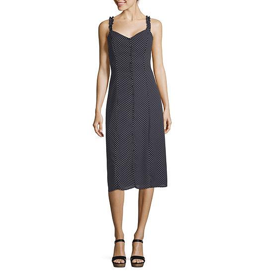 Trixxi Sleeveless Dots Swing Dresses-Juniors