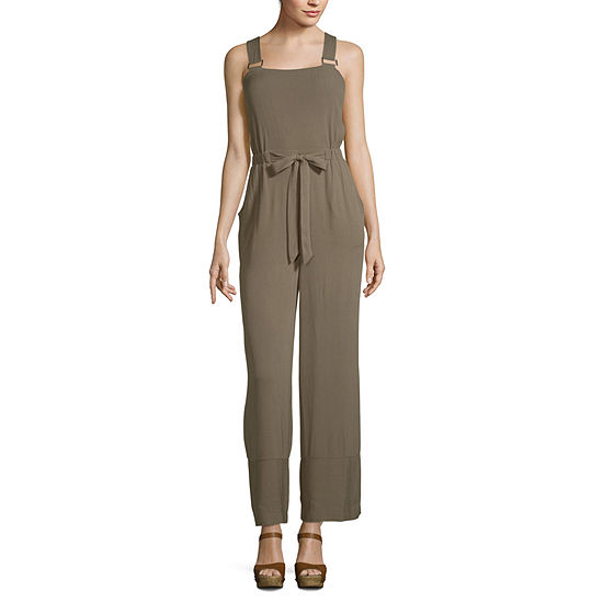 Derek Heart Sleeveless Jumpsuit-Juniors