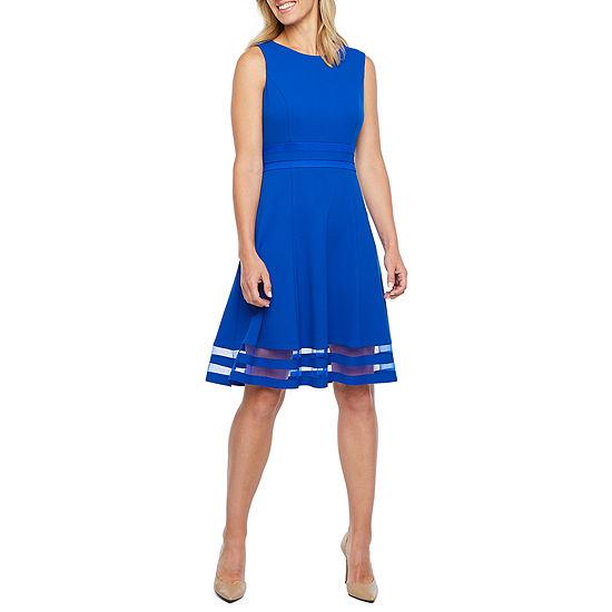 Liz Claiborne Sleeveless Fit & Flare Dress