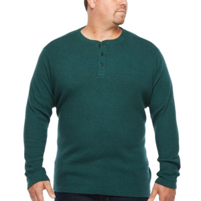 The Foundry Big & Tall Supply Co.- Mens Long Sleeve Henley Shirt