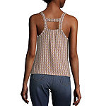 Self Esteem Square Neck Sleeveless Tank Top Juniors
