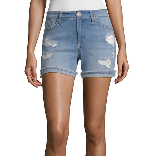 Almost Famous Womens Mid Rise Short-Juniors