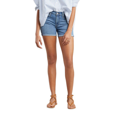 "Levi's Mid Length Short Womens Mid Rise 4 1/2"" Denim Short"