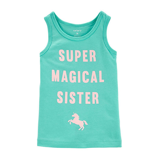 Carter's Girls Crew Neck Tank Top - Toddler