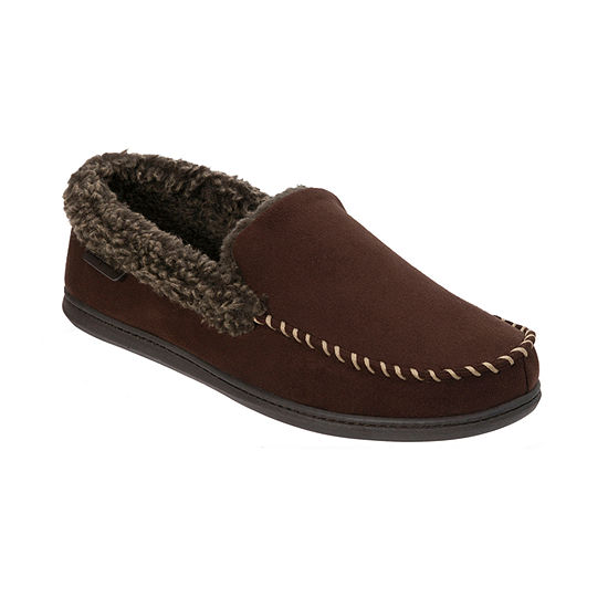 Dearfoams® Wide Width Microsuede Moccasin with Whipstitch