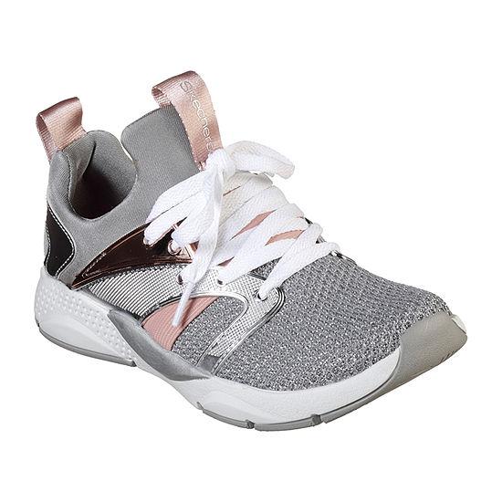 Skechers Shine Status Little Kids Girls Lace-up Sneakers