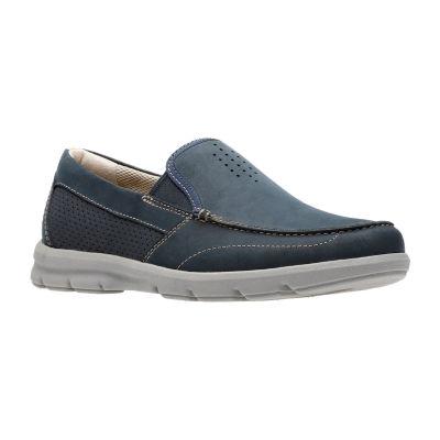 Clarks Mens Jarwin Race Boat Shoes Slip-on