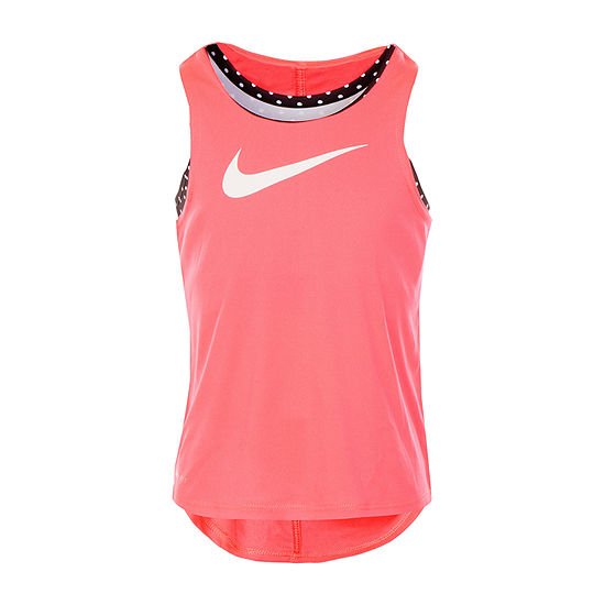 Nike Girls Round Neck Tank Top - Preschool