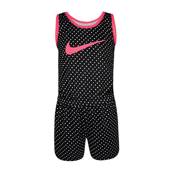 Nike Little Girls Sleeveless Romper