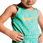 Nike Girls Sleeveless Romper - Preschool
