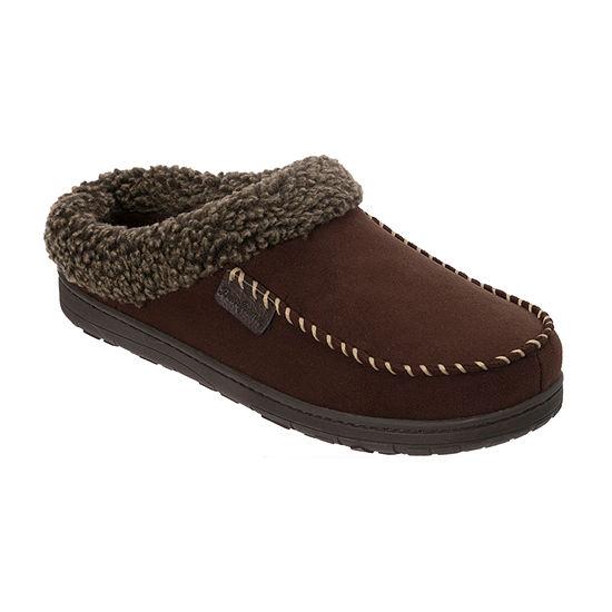 Dearfoams® Moccassin Toe Clog with Berber Cuff