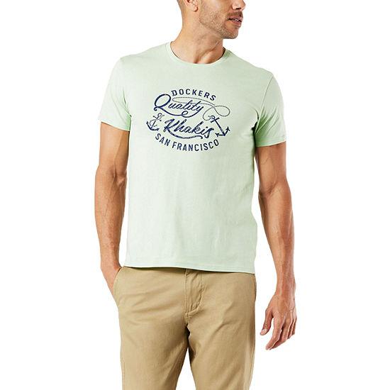Dockers Mens Crew Neck Short Sleeve Graphic T-Shirt