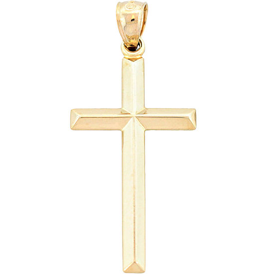 14K Yellow Gold Cross Charm