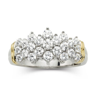 1 CT. T.W. Diamond Two-Tone 10K Gold Ring